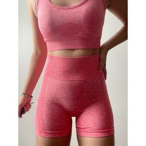 New Gym Shark DUPE Pink 2 pcs workout set